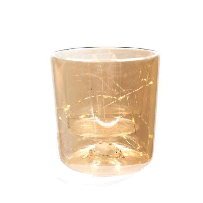 <h4>Christmas LED pot glass 15lmp d13*14cm</h4>