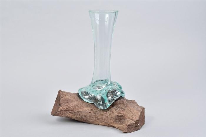 <h4>Deco Glas Burned Fles 22x12x27cm</h4>