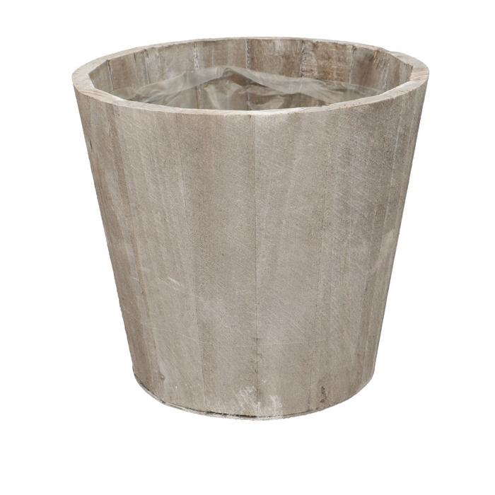 <h4>Hout Stripe pot d16*15cm</h4>