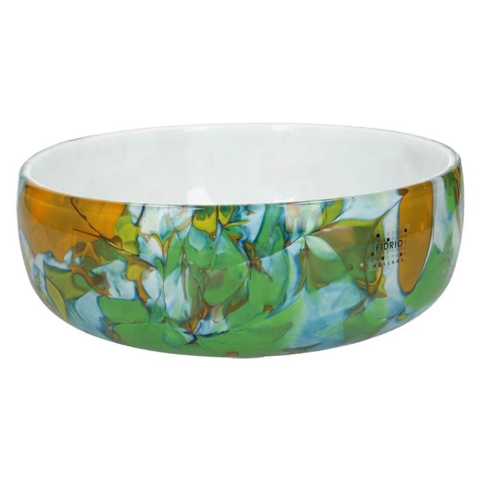 <h4>Glas Fidrio Dynamic schaal d22*6cm</h4>