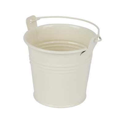 <h4>Bucket Sevilla zinc Ø8,2xH7,2cm - ES7 cream gloss</h4>