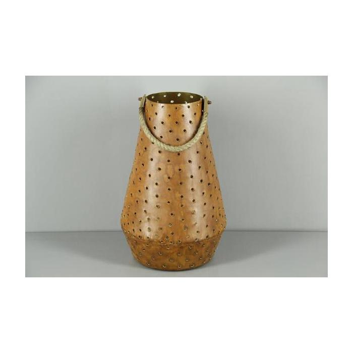 <h4>Lantern Mtl Cone Rust/gold 38</h4>