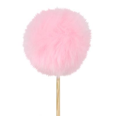<h4>Pique ballon en peluche Ø6cm +50cm rose</h4>
