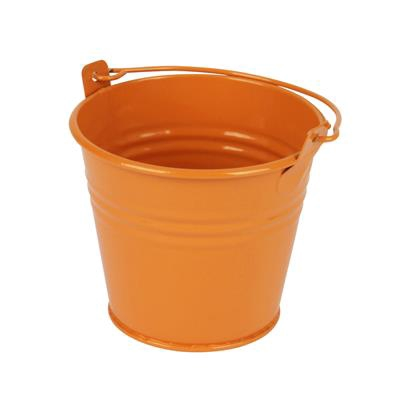 <h4>Bucket Sevilla zinc Ø9.6xH8cm - ES8.5 orange gloss</h4>