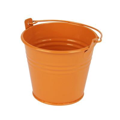 <h4>Seau Sevilla zinc Ø9.6xH8cm - ES8.5 orange bril.</h4>