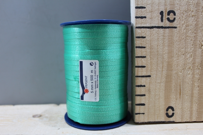 <h4>CURLY RIBBON 5MM 500M EMERALD 607</h4>