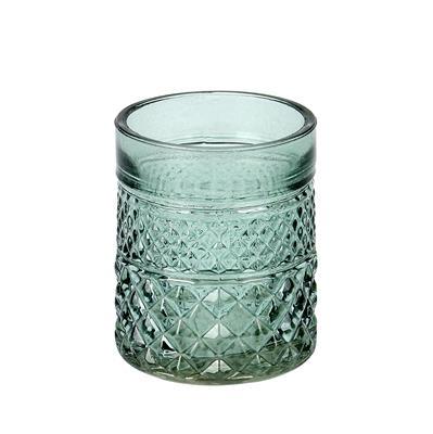 <h4>Pot Maputo glas Ø7xH8.5cm groen</h4>