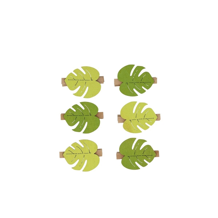 <h4>Decoration Pegs leaf 3.5*4cm x24</h4>