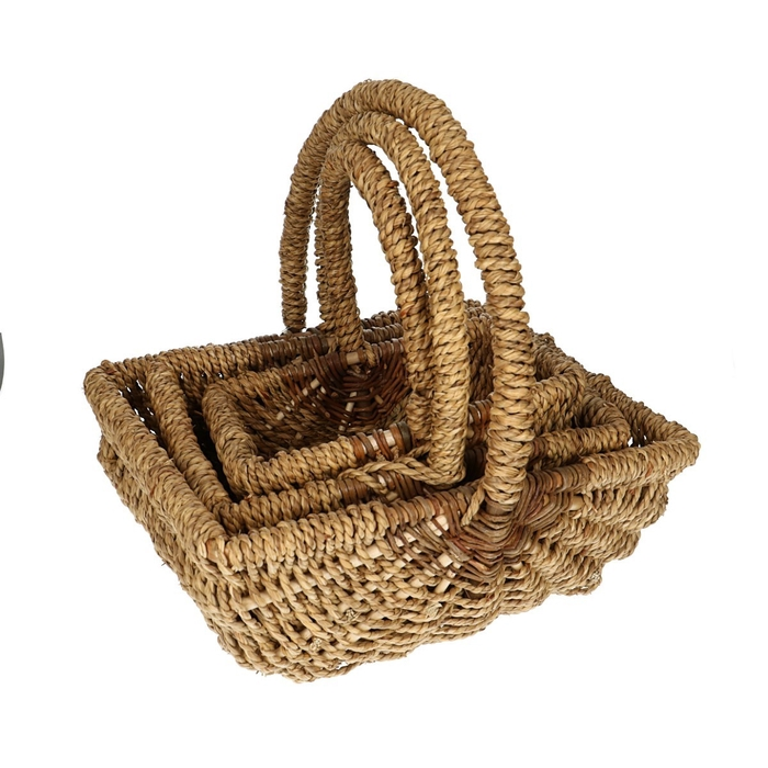 <h4>Baskets Rope square S/3 d36*29cm</h4>