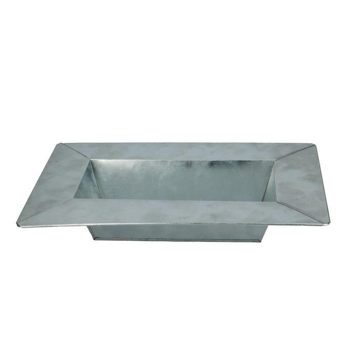 <h4>Zinc Bowl rect. d31/20*5cm</h4>