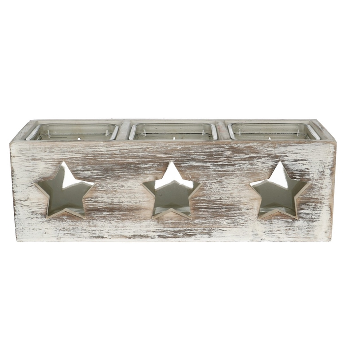 <h4>Candlelight Wood Xmas 27*9*8cm</h4>