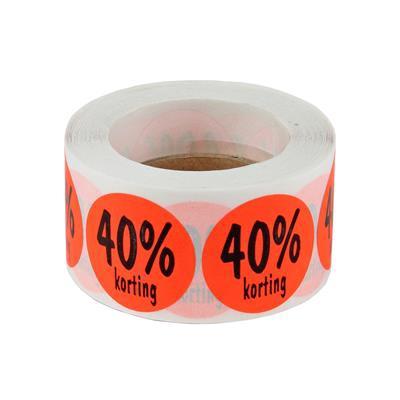 <h4>stickers ø 35mm  40% korting  ORANJE - rol 500st</h4>