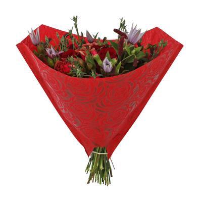 <h4>Housses 40x40cm diamond PP 80gr rosier rouge</h4>