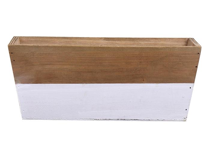 <h4>DF662682000 - Planter Argo3 25x13x10 white/natural</h4>