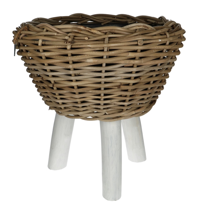 <h4>Baskets Rattan Drypot/foot d40*39cm</h4>