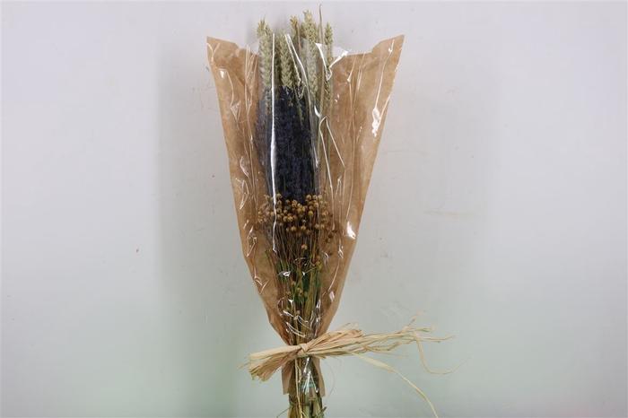 <h4>Dried Bouquet Deluxe Triticum/laven/vlas</h4>