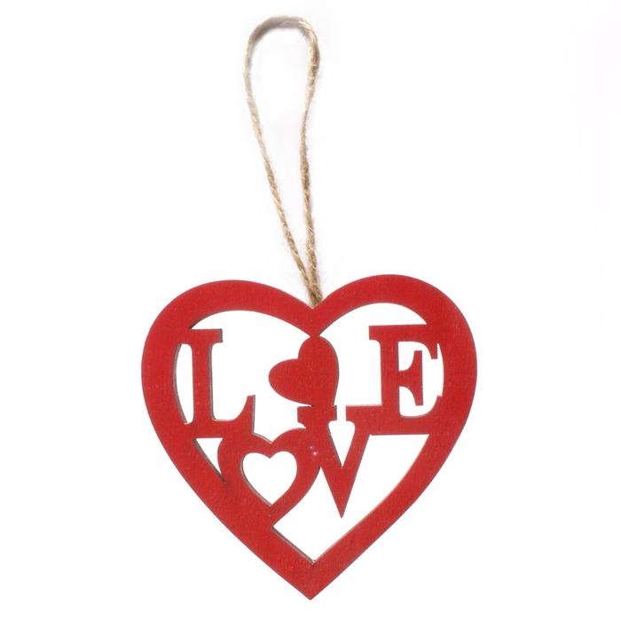 <h4>Valentijn Hanger hout love 8cm x25</h4>