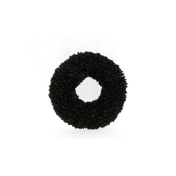 <h4>Wreath In 38cm Black 46012</h4>