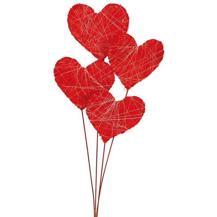 <h4>Sisal corazon plano rojo (15x15x60)</h4>