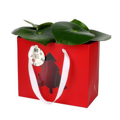 <h4>sac sapin de noel +étiquette carton 24x11x20 rouge</h4>