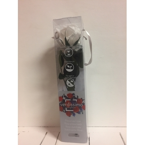 Roos op steel mini 27,5cm White