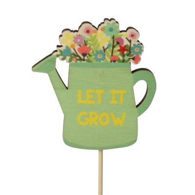<h4>Pique Let it grow bois 6,5x7cm+12cm bâton</h4>