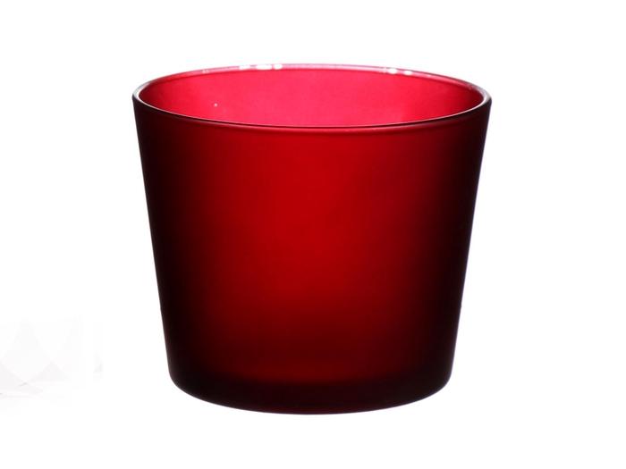 <h4>DF883596400 - Pot Nashville d11.5xh9.5 bordeaux matt</h4>