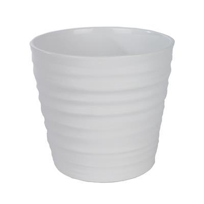 <h4>Pot en céramique Canberra Ø16x15cm blanc brillant</h4>