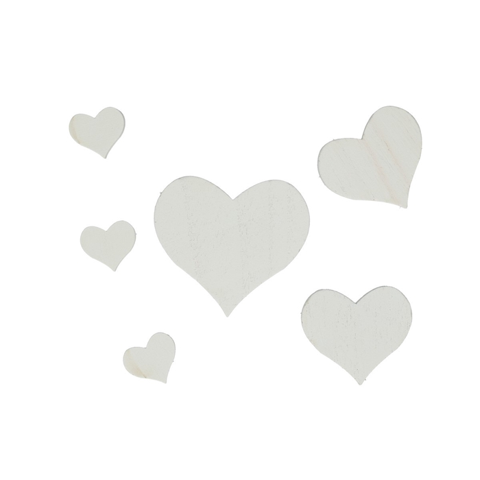 <h4>Liefde Hart hout d2.5-7cm x18</h4>