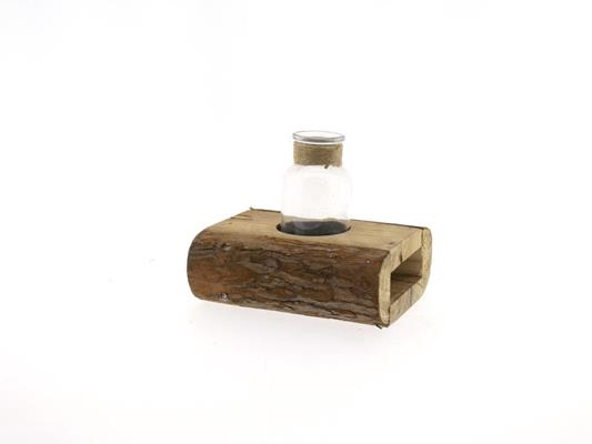 <h4>Wooden Holder+ Bottle 16x15x14</h4>