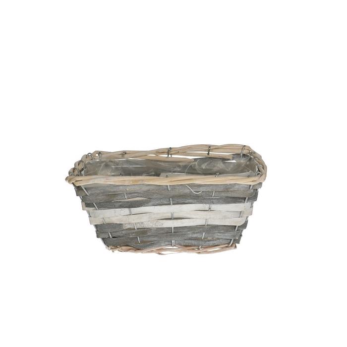 <h4>Baskets Fleur tray rect.d23/13*11cm</h4>