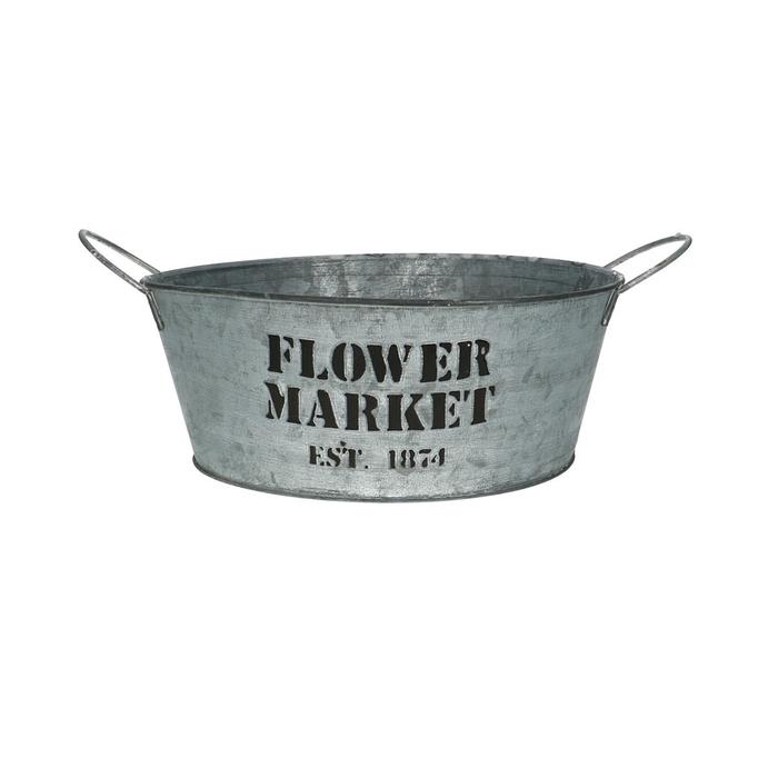 <h4>Zink Flower market rond d25*10cm</h4>