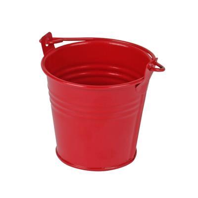 <h4>Bucket Sevilla zinc Ø6,3xH5,7cm - ES5,5 red matt</h4>