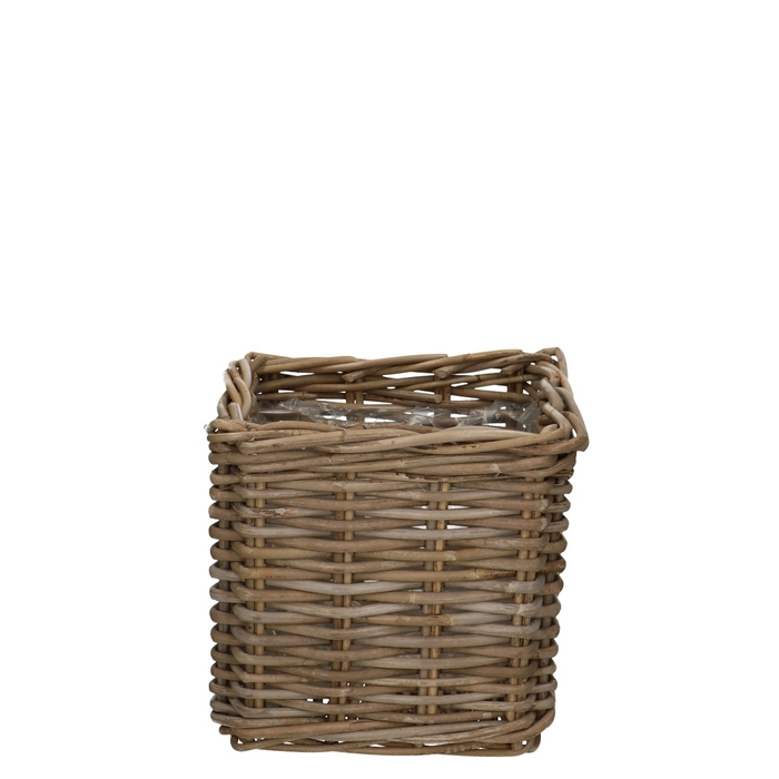 <h4>Baskets Rattan pot sq d27*25cm</h4>