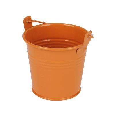 <h4>Bucket Sevilla zinc Ø8,2xH7,2cm - ES7 orange gloss</h4>