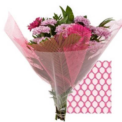 <h4>Feuilles Deco-luxe 40x40 Mesh rose</h4>