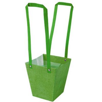 <h4>Bag Fabric PP 13x9,5xH15cm green</h4>