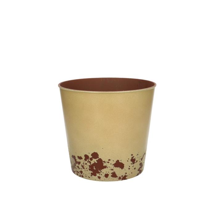 <h4>Plastic Melam rust pot d17*15.5cm</h4>
