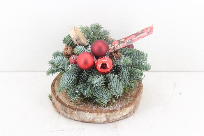 <h4>arr.. Kerst MB - Houten schijf red</h4>
