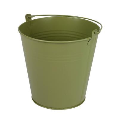 <h4>Bucket Sevilla zinc Ø15,5xH14,8cm ES14 / 15 green</h4>