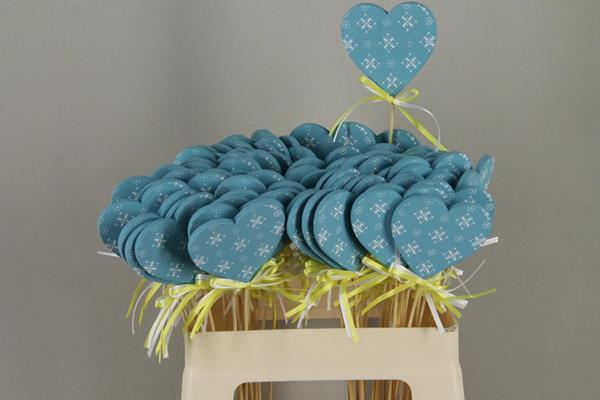 <h4>Stick Heart Wood+ribbon Blue</h4>