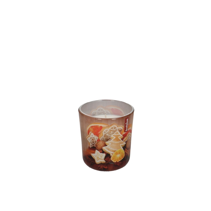 <h4>Candle Glass Pot Scent Gingerbread d8*7cm</h4>