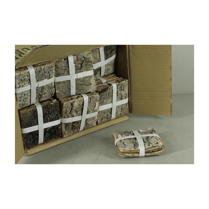 <h4>Birch Bark Pack 10x10cm(6p)nat</h4>