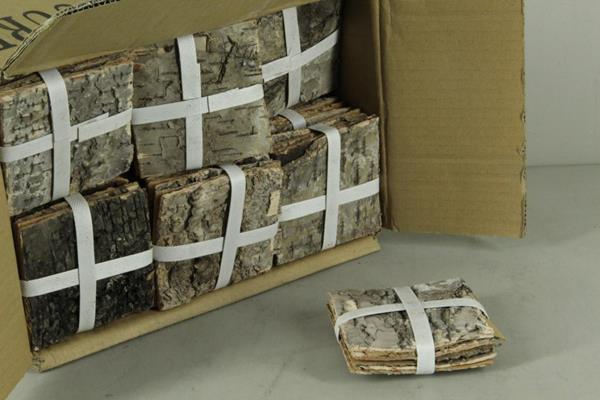 <h4>Birch Bark Pack 10x10cm(6p)nat</h4>