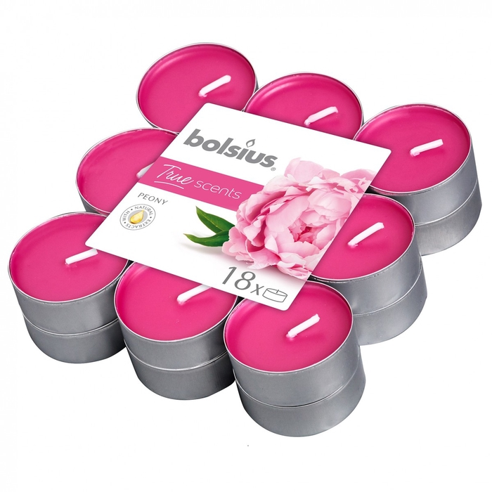 <h4>Candle Scent tealight Peony x18</h4>