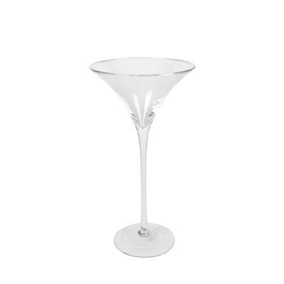 <h4>Schaal op voet Asmara glas ø25,5xH50cm</h4>