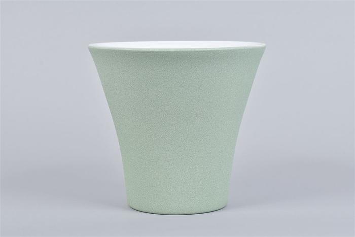 <h4>Berlijn Groen/wit Orchidee Pot 16x15cm</h4>