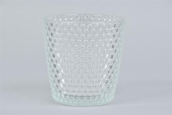 <h4>Glas Pot Stippels 13x13cm</h4>