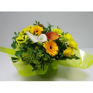 Bouquet Aqua Large Yellow