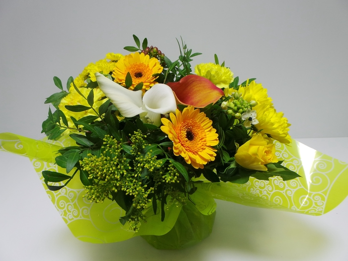 <h4>Bouquet Aqua Large Yellow</h4>